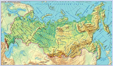 Detailed Map Of Russia With Cities On MapsRF - Physical map of russia